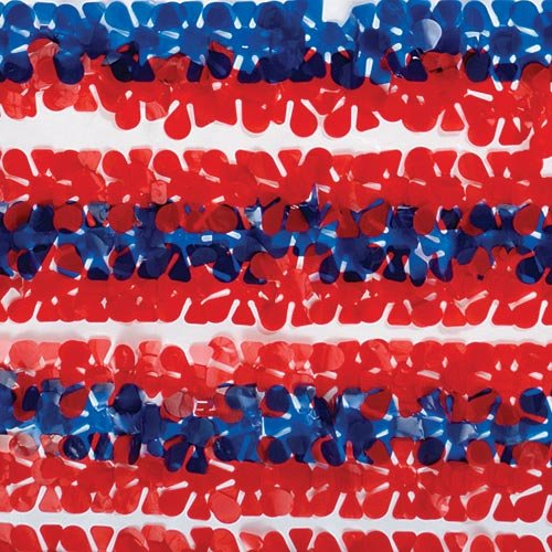 Red, White and Blue Patriotic Vinyl Floral Sheeting]()