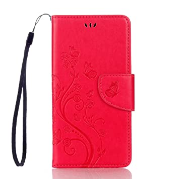 Para BQ Aquaris X5 Plus Smartphone PU Caja de cuero de la cartera ...