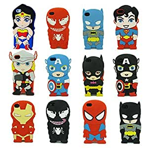 Classic Movie Collection Superheroes iphone 5s - 12 Character 3D Silicone Case for iphone5 5s By iBee dc