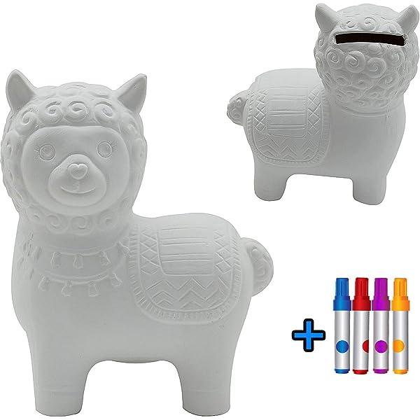Huchas DIY Alpaca para Pintar Kit Pintura para Niños y ...