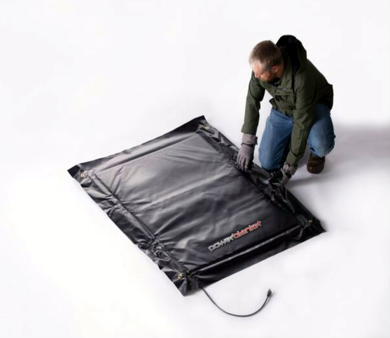 3 x 4 Heated Dimensions 4 x 5 Finished Dimensions Powerblanket EH0304 High Watt Density Ground Thawing Blanket Epoxy Curing Blanket
