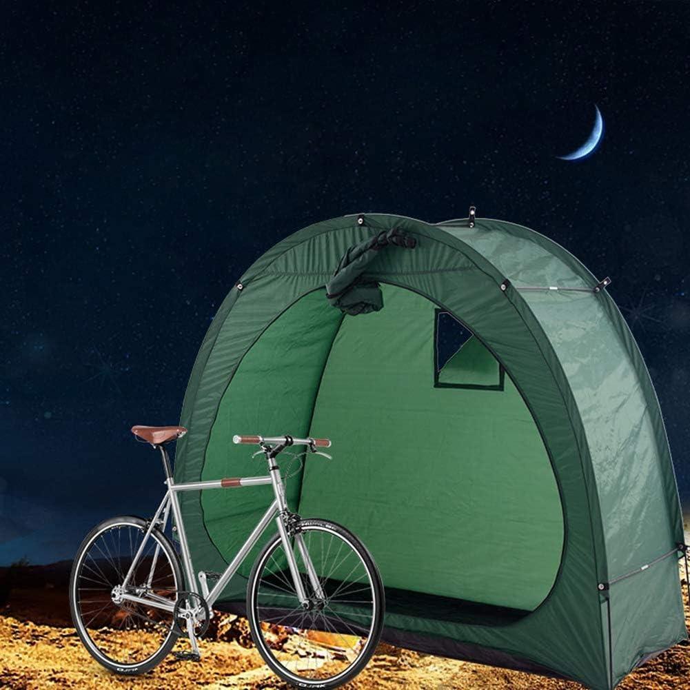 Hangar de Stockage Stockage de vélos Tente de vélos 190T Local à vélos avec des fenêtres à l'extérieur pour Camping Green