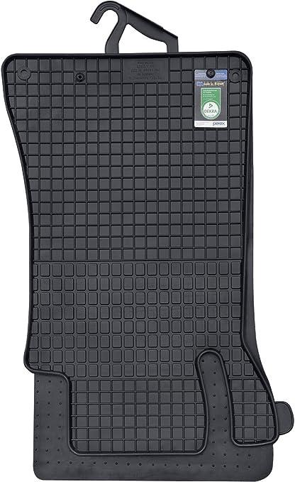 Maßgefertigte Fußmatten für Mercedes W204 Velours SCHWARZ Komplett Set