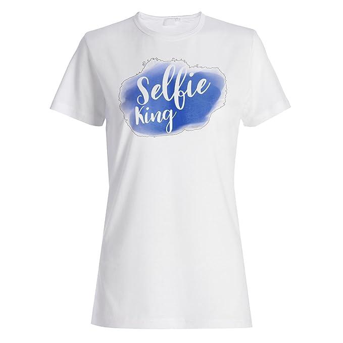 Selfie King Social Media Novedad Divertida camiseta de las mujeres a924f: Amazon.es: Ropa y accesorios