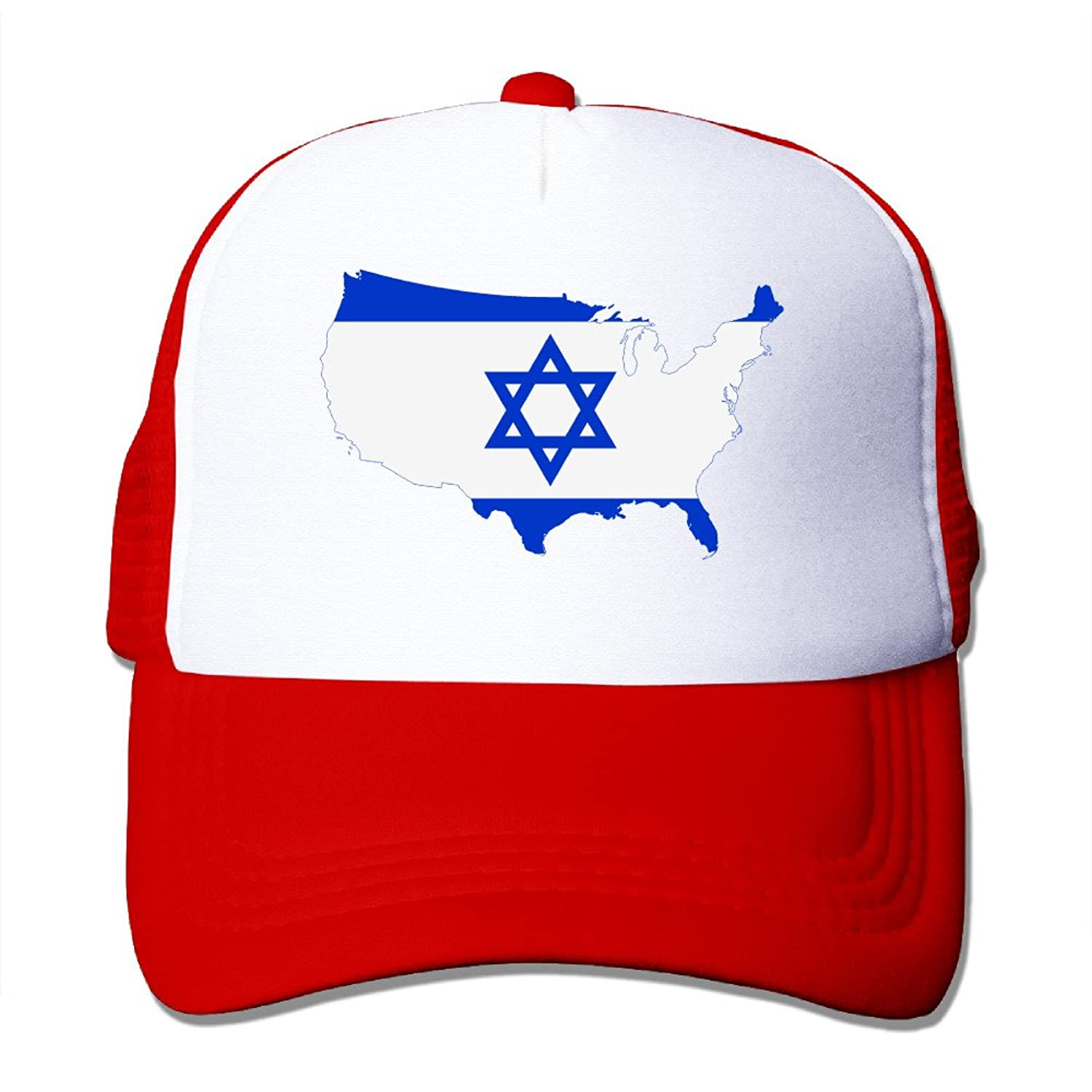 Adult Unisex Flag Map Of Israel 100% Nylon Mesh Caps One Size Fits Most Sport Hats Adjustable
