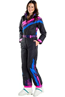 9197505823 Tipsy Elves Women s Black Nightrun Retro Ski Suit - Old School Snowsuit for  Female