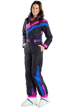 Amazon.com  Tipsy Elves Women s Nightrun Ski Suit  Small Black  Clothing b82cc78d5