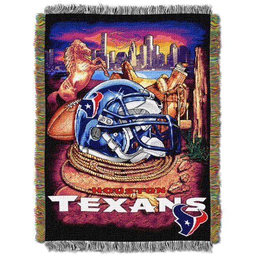 (The Northwest Company Officially Licensed NFL Houston Texans Home Field Advantage Woven Tapestry Throw Blanket, 48
