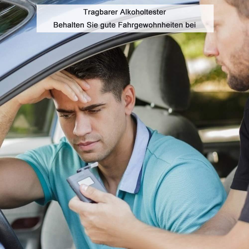 Directtyteam Alkoholtester Tragbares Promilletester Akkurater Atemalkoholmessger/ät