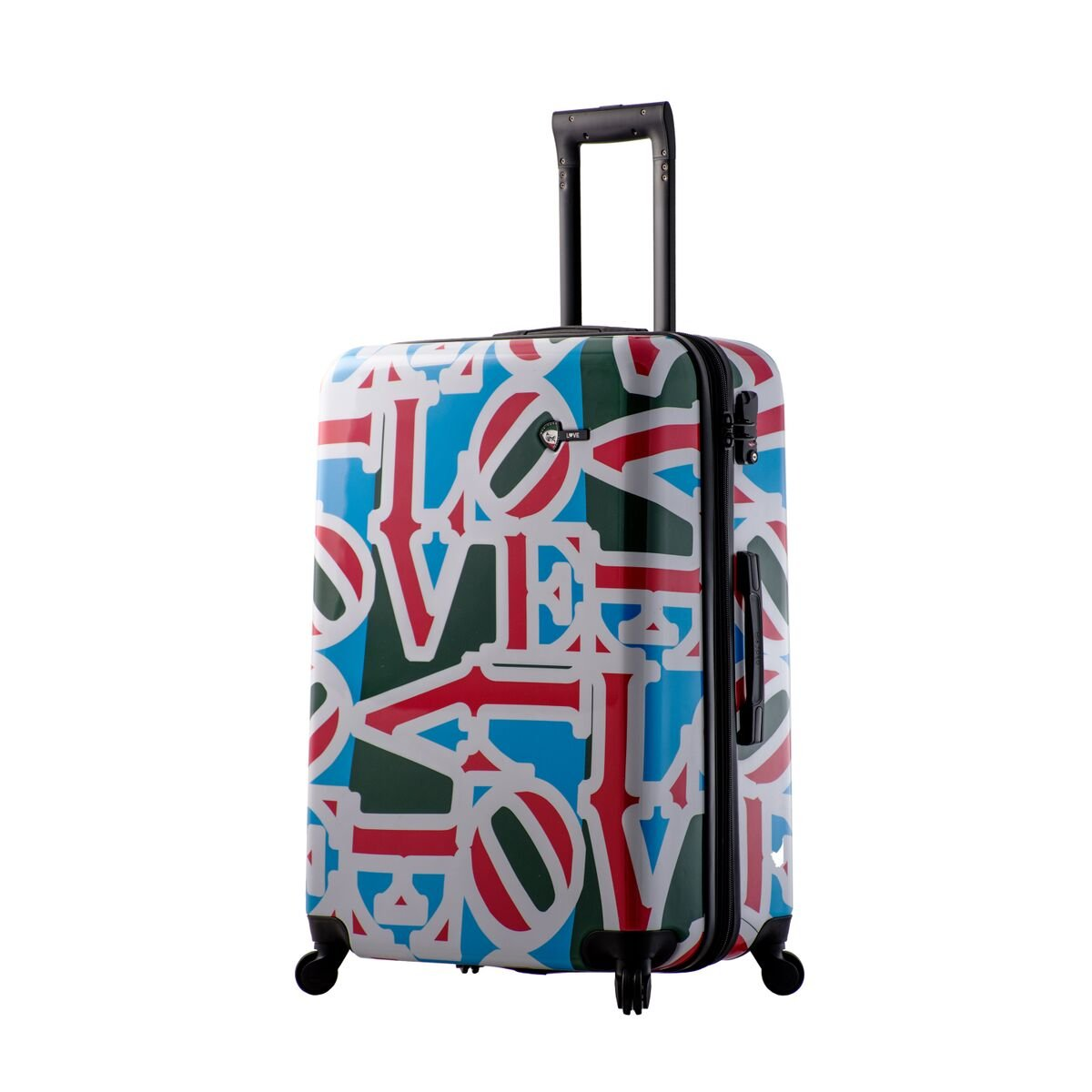 Mia Toro Love Collection Hard Side 28 Inch Spinner, Lcg, Love Collection Green