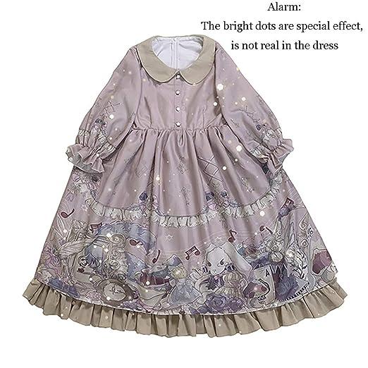 WDL-shop Alice Sweet Print Lolita Vestido de Princesa, Falda de ...