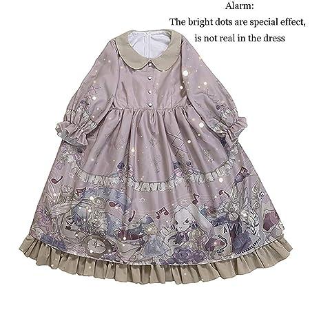 WDL-shop Alice Sweet Print Lolita Vestido de Princesa, Falda ...