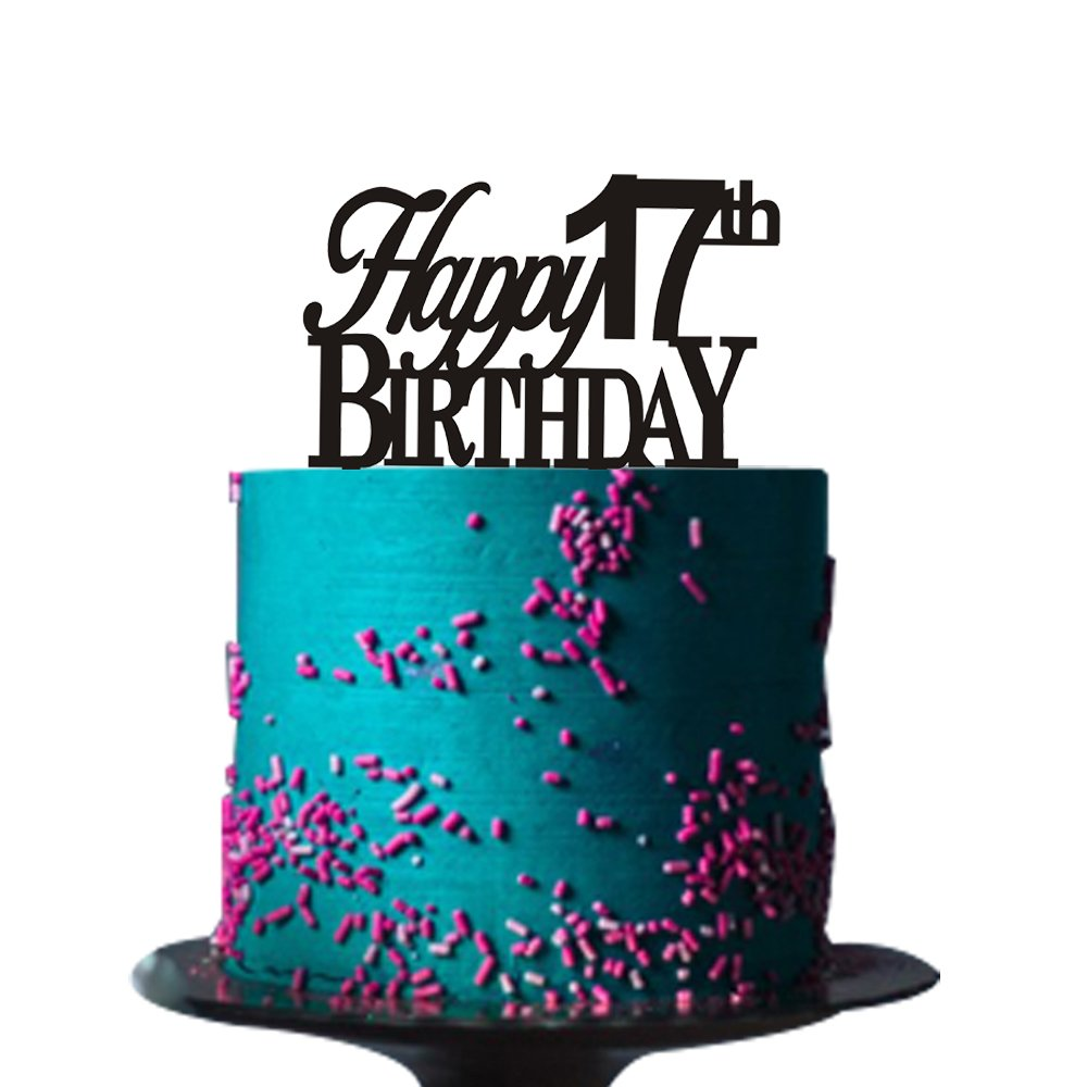 Peachy Happy 17Th Birthday Cake Topper For 17Th Birthday Cake Topper Personalised Birthday Cards Veneteletsinfo
