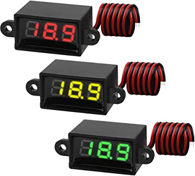 Green/&Yellow 0.36 inch 2 Wire DC 3-30V LED Digital Panel Meter Voltage Voltmeter