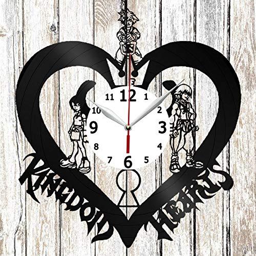 Kingdom Hearts Vinel Record Wall Clock Home Art Decor Unique Design Original Gift Handmade Vinyl Clock Black Exclusive Clock Fan Art