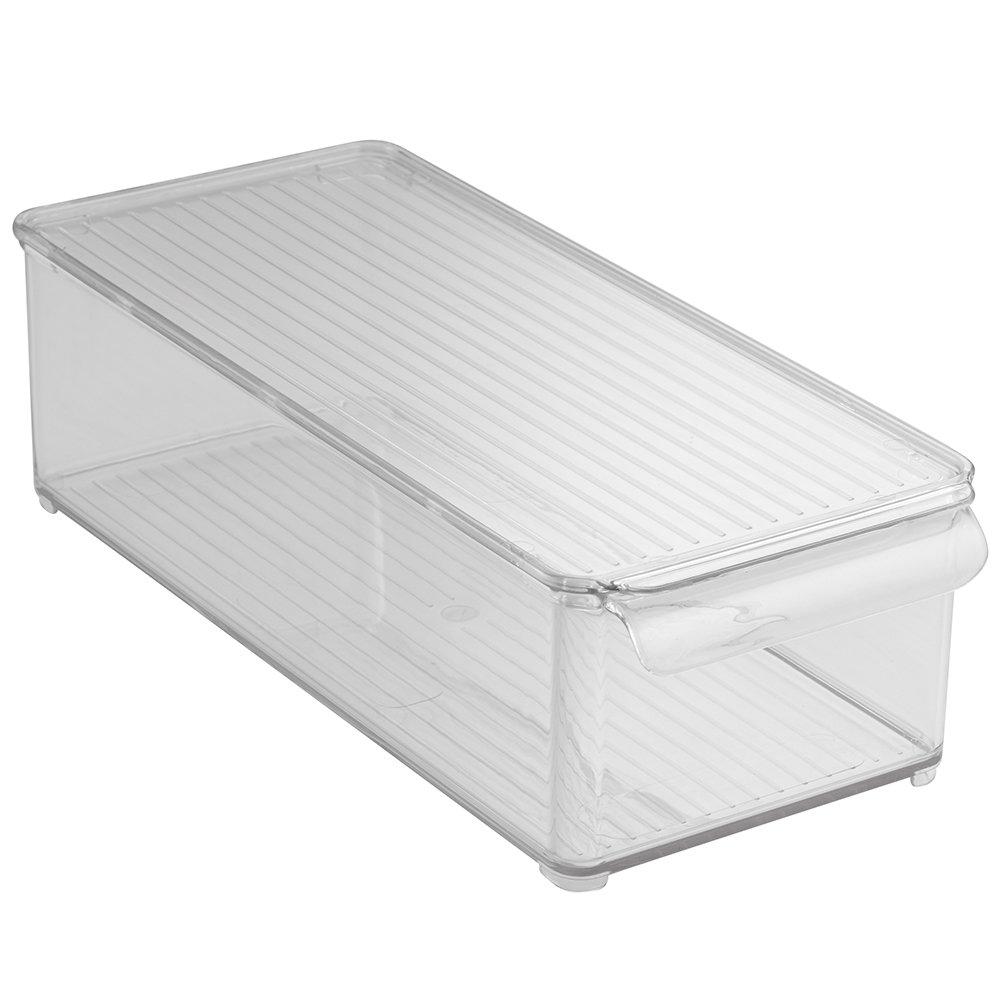 InterDesign Refrigerator and Freezer Storage Organizer Bins for Kitchen with Lid - 6
