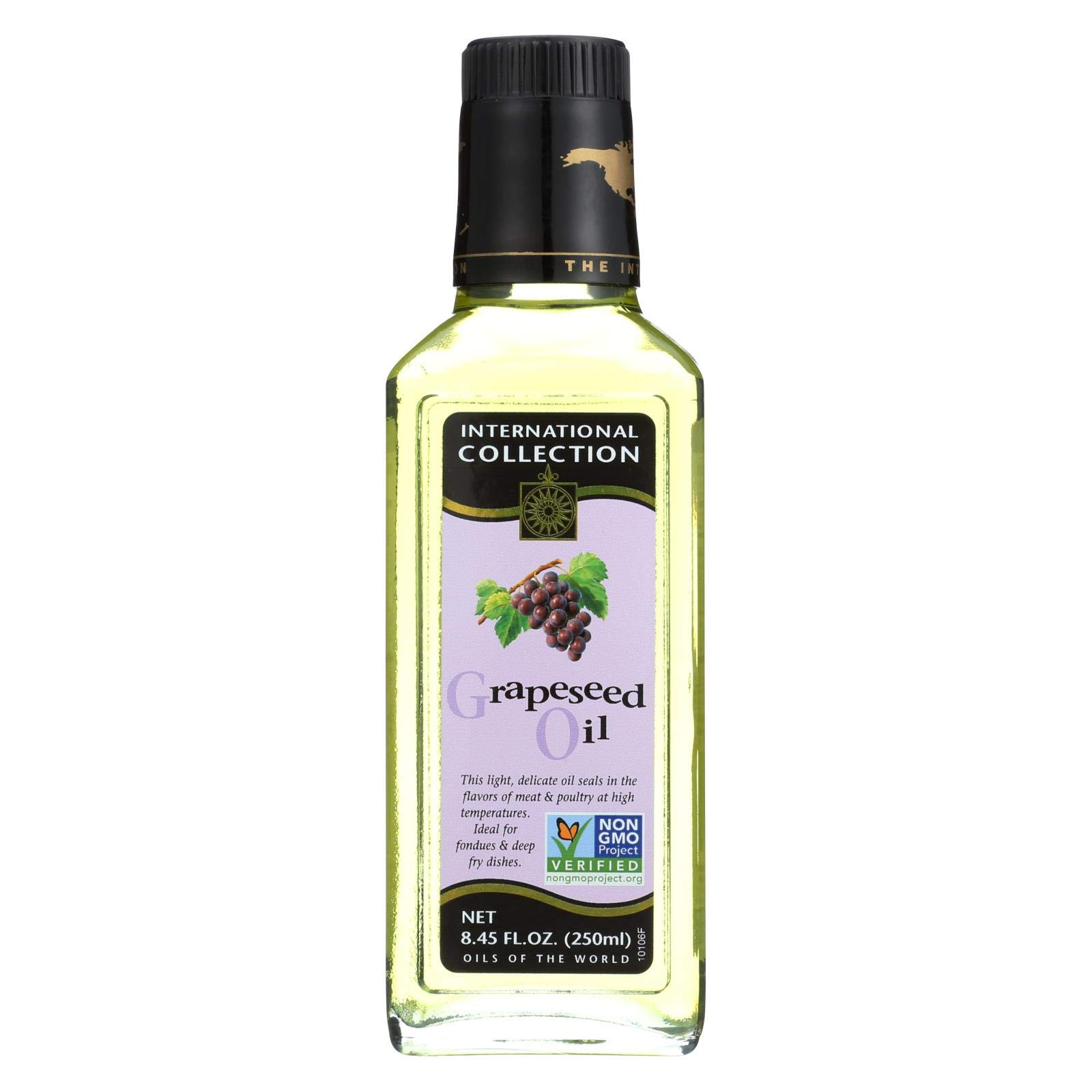 Internation Collection Grapeseed Oil, 8.45 Oz - 6 Per Case. by International Collection