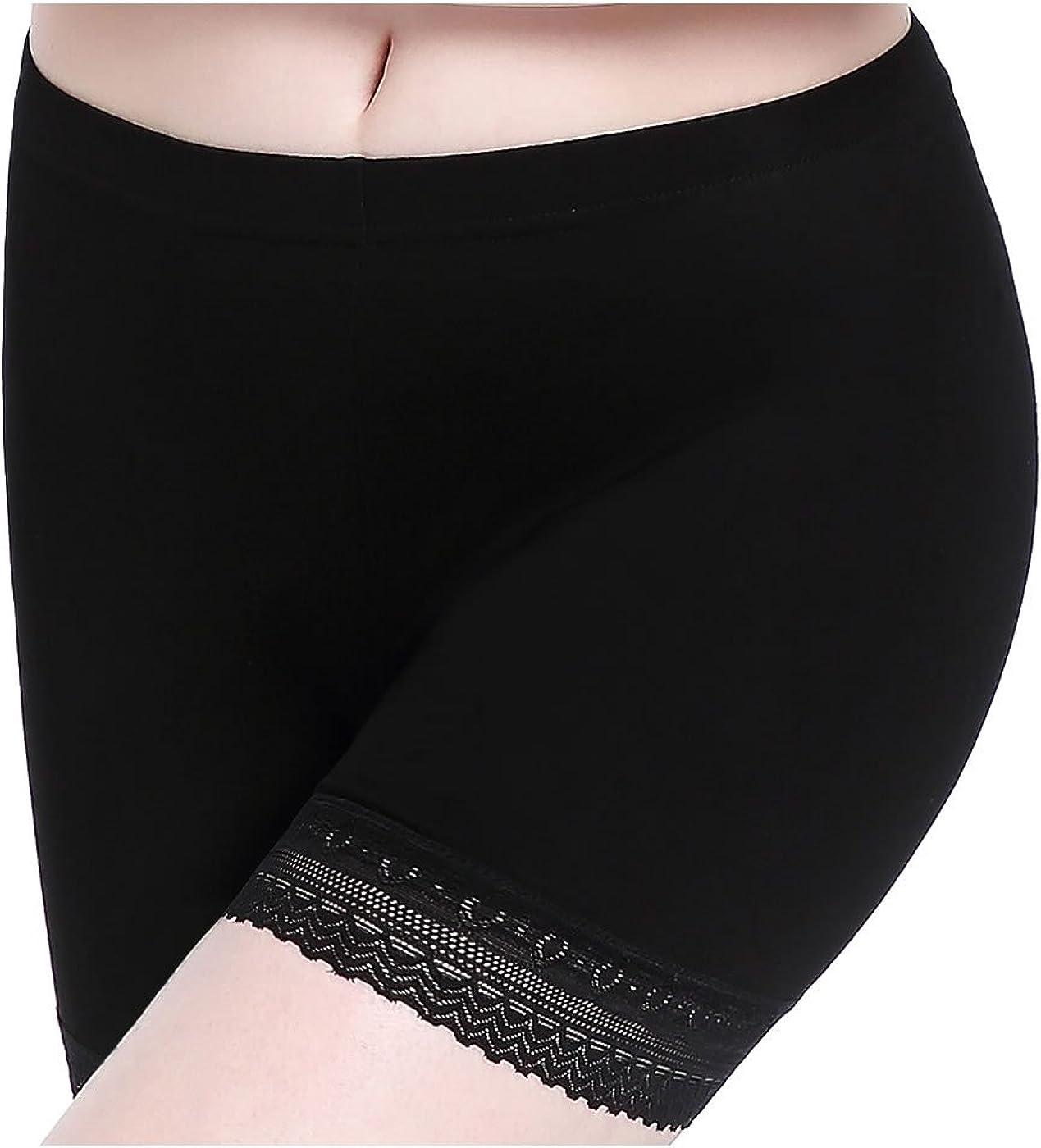 Femme Short sous Jupe Culotte de S/écurit/é Douce Stretch Leggings Court Dentelle