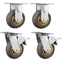 """4X Swivel Caster Wheels Castor 6"""" / 150mm Heavy Duty 1000KG Load, 2 with Brakes"""