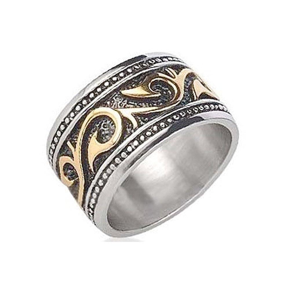 Celtic Irish Steel Wedding Band Ring Or Anniversary Stainless Gothic Mens: Gothic Wedding Bands Men At Reisefeber.org