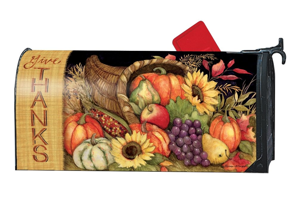 Studio M Fall Outdoor Mailbox Cover MailWrap - Harvest Blessings