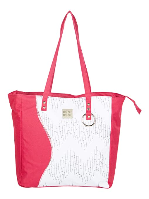 Mee Mee Baby Nursery Diaper Handbag for Moms  with Bottle Warmer   Changing Mat, Red  Diaper Bags