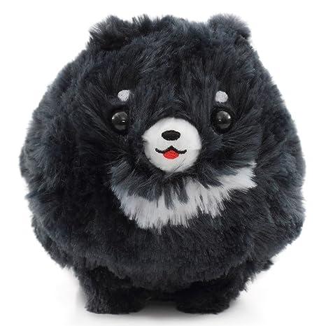 amazon com cute fluffy dark grey dog pometan plush toy japan toys