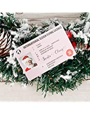 Santa Claus Lost Driving License Christmas Eve Sled License Creative Xmas Novelty License Card for Christmas Tree Decorations