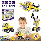 Betheaces Building Blocks Construction Stem Toys 3-in-1 Transform Truck Airplane Crane Puzzles for Kids Boys Girls Children Assembling Engineering Take Apart Gift