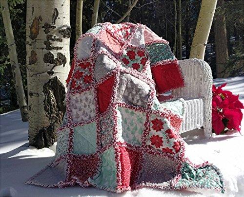 Winterberry Prefringed Rag Quilt Kit