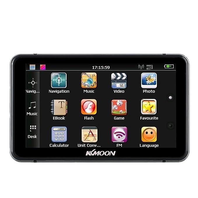 KKmoon - Navegador GPS portátil de 7 pulgadas con pantalla táctil ...