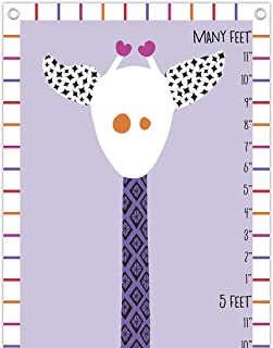product image for Giraffe Growth Chart in Purples and Pinks