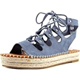 G by Guess Womens Keeny Faux Suede Espadrille Platform Sandals