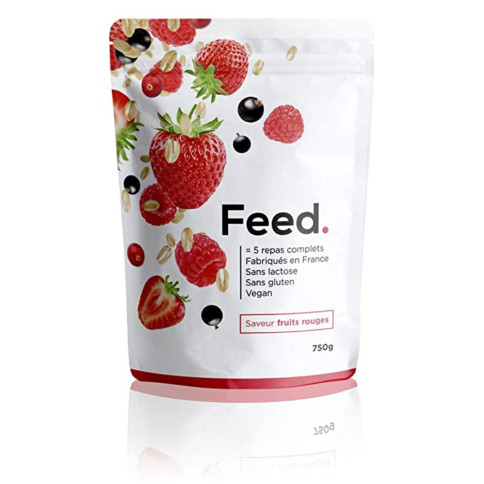 Feed. - 1 Bolsa de 5 Comidas Frutos Rojos - Comida Completa - 100%