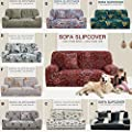 uxcell Stretch Sofa Cover Couch Cover 1 Seater Polyester Spandex Fabric 1-Piece Sofa Slipcover for Chair Loveseat Sofa Elastic Furniture Protector with One Free Cushion Case