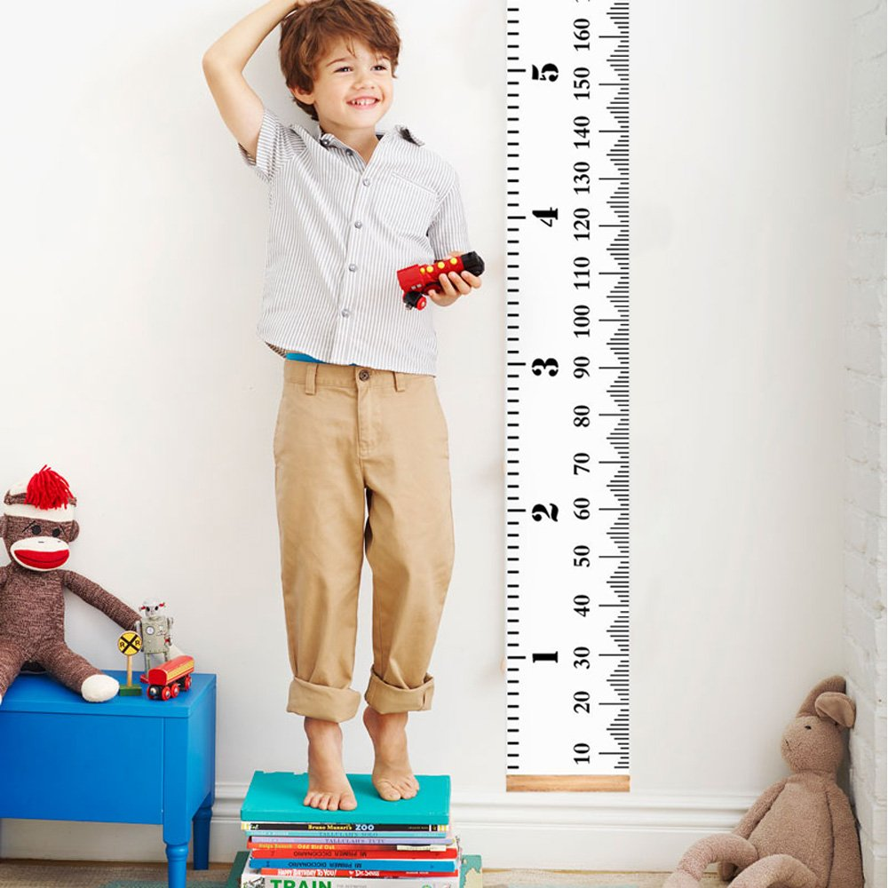 Growth Chart Ruler, Innker Baby Child Height Growth Chart Wall Hanging Kids Height Measurement for Kids Boys Girls Canvas Height Measuring Tape Wall Decoration Kids Bedroom Playroom Classroom