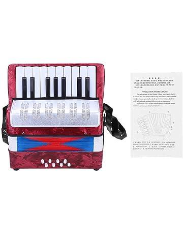 Tbest Acordeón Concertina Accordion Niño 17 Key 8 Bass Mini Acordeón Infantil Juguetes Educativos Infantiles Principiantes
