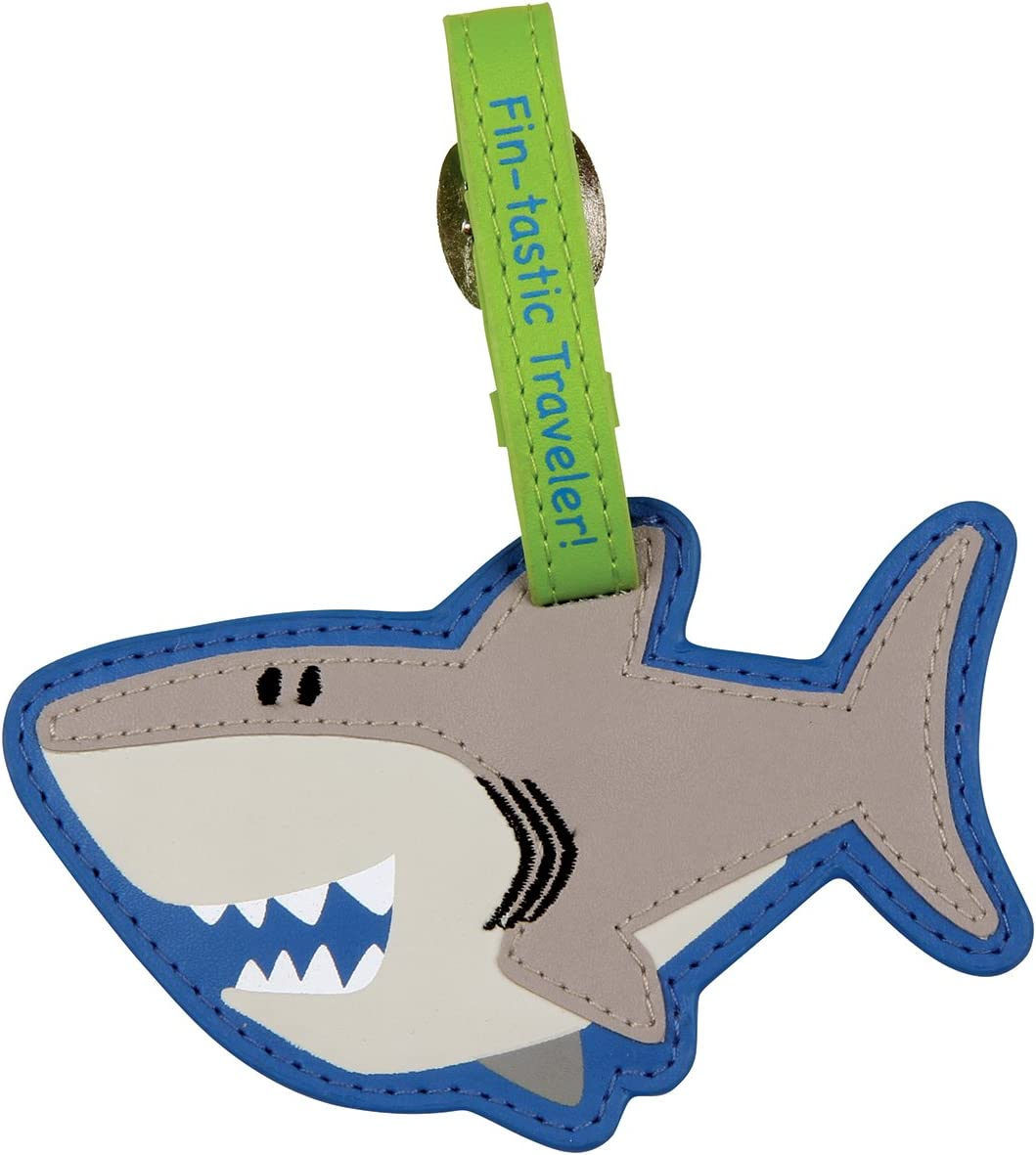 Cartoon Colorful Sharks Luggage Tags Bag Travel Labels For Baggage Suitcase