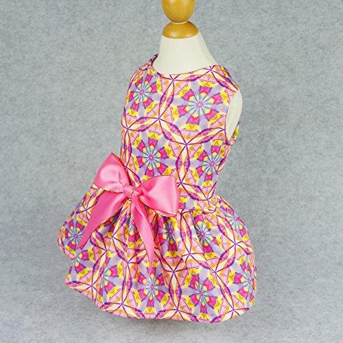 Image of Fitwarm Floral Pet Clothes for Dog Dresses Cat Sundress Vest Shirts Pink XXS