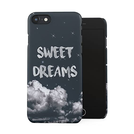 sweet dreams twinkle stars plastic phone snap on back case cover shell for iphone 7