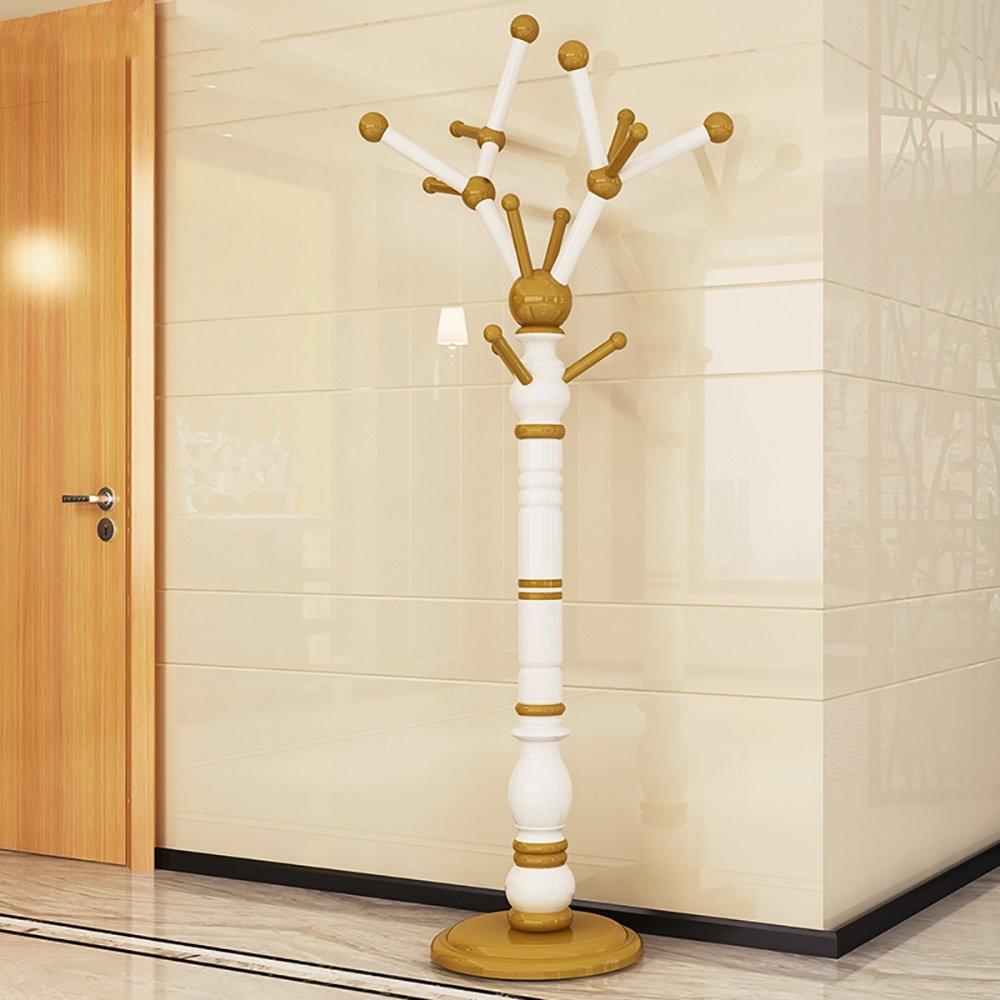 JI BIN SHOP® コートラックソリッドウッドのベッドルームハンギングハンガーヨーロピアンスタイルに立つ居間コートラック現代のシンプルさ172 * 42cm (色 : 2#) B07L6VWHPF 2#