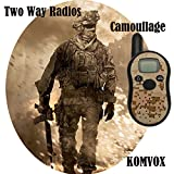 KOMVOX Outdoor Walkie Talkies 22 Channels FRS/GMRS 2 Way Radio 2 miles (up to 3.7 Miles) UHF Handheld Walkie Talkies for Hiking Fishing Hunting Riding Outdoor Travel (1 Pair Camouflage)