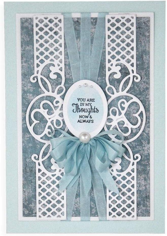 AkoMatial Cutting Dies,Flower Lace Edge Design Embossing Cutting Dies Tool Stencil Template Mold Card Making Scrapbook Album Paper Card Craft,Metal