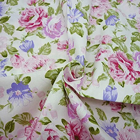 One Piece 19.7x63 Bow-knot Printed 100/% Cotton Fabric for Sewing Patchwork,Quilting Fabric By The Yard