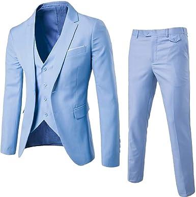security - Traje - Manga Larga - para Hombre Azul Azul Claro ...
