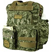 Lillian Rose Diaper Bag, Daddy Military, 12.5  x 16