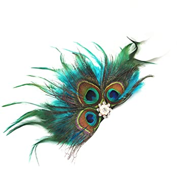 peacock eye wedding hair accessory bridal hair comb peacock feather cocktail fascinator Elegant peacock feather decorative hair comb