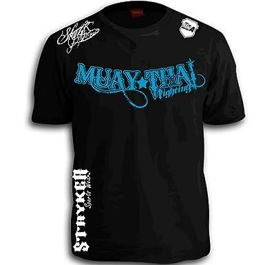 620c4444d Muay Thai Fighting Blue White Logos Black MMA UFC Tapout Bjj T-shirt Brand  New
