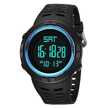 JBP Max Mens Deportes Impermeable Reloj Multi-Función Reloj Digital Exploración Al Aire Libre Doble Tiempo Deportes Reloj Electrónico Grande Dial Alarma ...