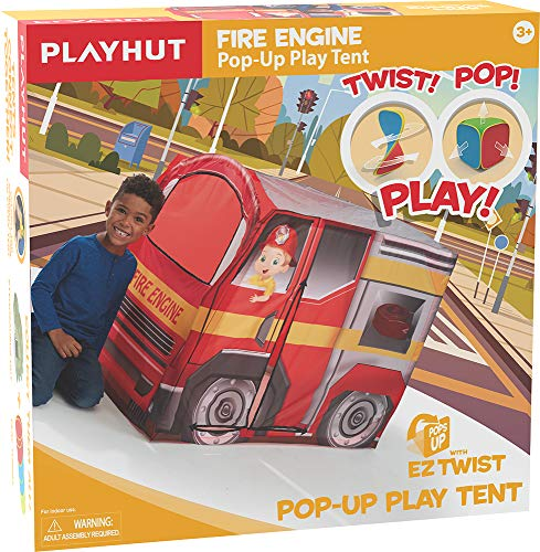 low priced d2ad8 8e338 Playhut Fire Engine EZ Vehicle Pop-Up Play Tent – Easy Pop-Up and Fold Down  with Multiple Doors and Windows, Durable Materials